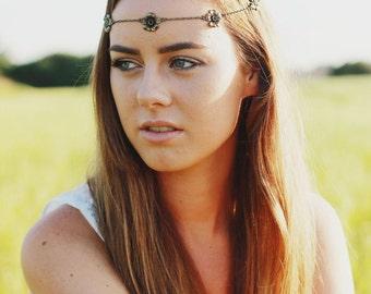 Bronze Hair Chain, Head Chain, Headband, Hair Piece