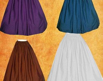 FREE SHIP Renaissance Medieval Underskirt SCA Garb Choice Color Size Flexible m-xxl Wide Hem Panels