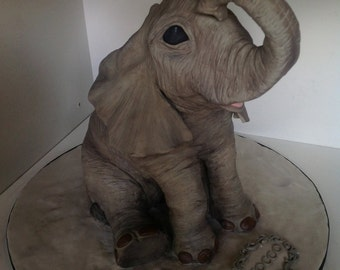 Baby Elephant 3D Cake Tutorial