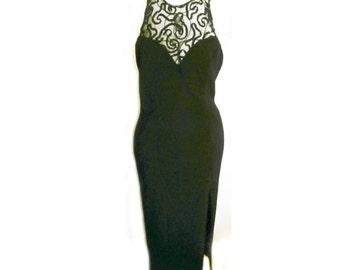 Beautiful Long Black Gown  size 9/10