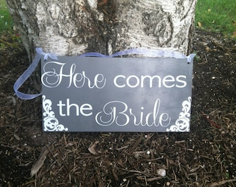 Here Comes the Bride Sign - Uncle Here Comes Your Bride - Wedding Signs Ringbearer Sign -- Wedding Signage --  ]Wedding Signs  -- Photo Prop