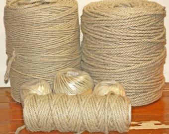 100% Natural organic Hemp Rope -  Strong / 4MM-6MM-8MM - Hammocks,Plant Holders,Gardening,Crafts,decking