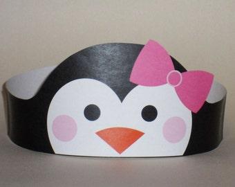 Penguin Girl Crown - Printable