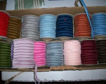 5 yds. Vintage nylon velvet piping/cord edge Swiss
