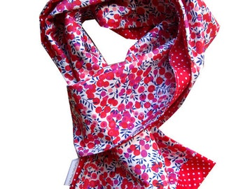Red scarf liberty wiltshire