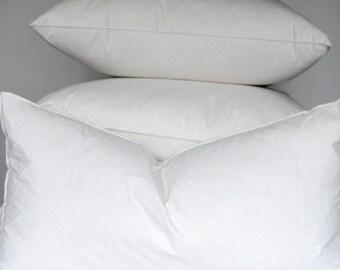 12 x 22 inch Lumbar pillow insert - 10/90 Down & Feather pillow form