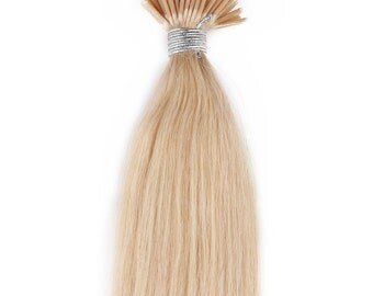 18inc 100grs,100s,Stick (I) Tip Human Hair Extensions  613 Platinum Blonde