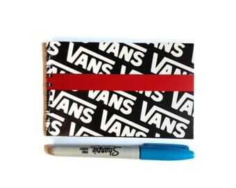 VANS | Notebook | Notepad | Recycled Shoe Box | Sketchbook | Unique Gift Idea | Handmade |  Back To School | Blank Book |