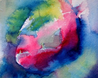 New Growth, An original abstract watercolor.