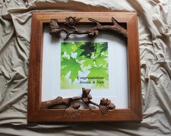 Hand Carved, Fine Art Frame, Picture Frame, Wedding Frame, Nature Frame, Wood Carved Frame, Customized frame, Customizable picture frame