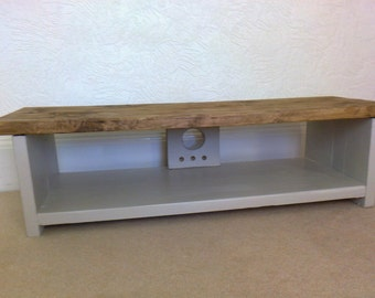 Low Tv Stand Rustic Pine Tv Unit Table For Large Lcd Tvu0027s