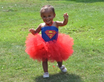 Supergirl Costume//Supergirl Tutu//Superhero Costume//Superhero Tutu//Halloween Costume//Halloween Tutu