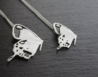 Handmade Butterfly Pendant. Silver pendant. Spring pendant.