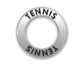 5 Silver Affirmation Ring Tennis Charm Pendant 22mm by TIJC SP0564
