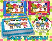 Personalized Team Umizoomi edible cake or cupcake toppers Birthday - Sugar icing frosting sheet picture supplies paper decal image transfer