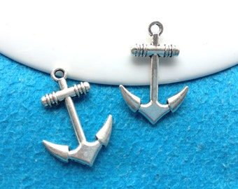 15pc antique sliver anchor charms pendant  20mmx25mm