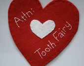 Attn:  Tooth Fairy - Tooth Pocket in Cherry Red