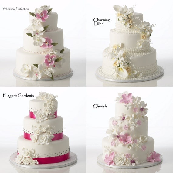 Fondant Flowers For Wedding Cakes: Items Similar To Gumpaste Flowers Ready For Cake