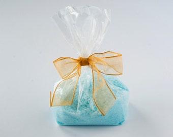 Bath Salts- Sea Salt Bath Soak- Calming Water Scented- Cello Gift Bagged- 8 oz