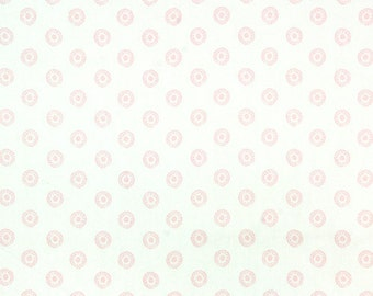 CLEARANCE - Premier Prints Chelsea Bella Twill - Baby Pink and White - Fabric by the half yard