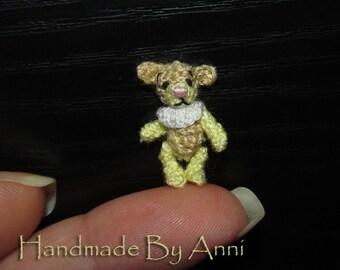 Miniature bear micro bear 0.8 inches teddy bear dollhouse bear ooak bear miniature teddy bears collectible bears dollhouse miniatures