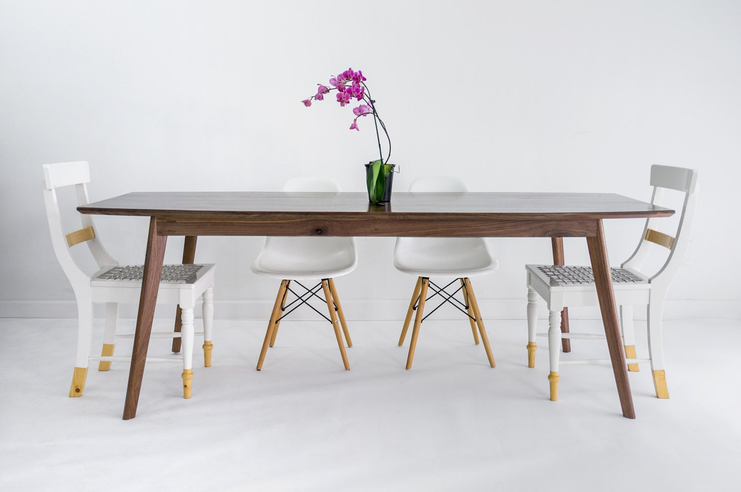 Walnut dining table midcentury modern dining table danish for Modern dining t