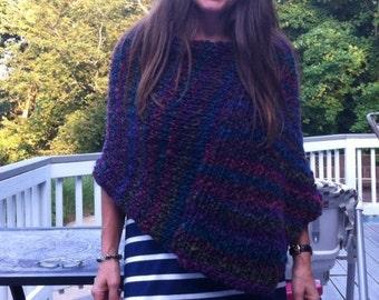Mia Marie Poncho - High Quality Italian Wool Blend