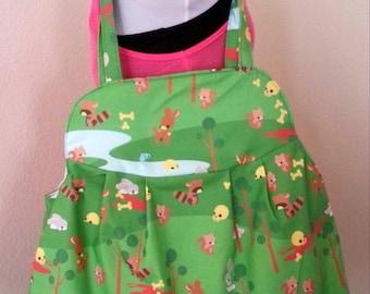 Large Animal Purse With Blood Splatter Linning - Evil Animal Day Bag - Bloody Animal Beach Bag - Blood Splatter Daiper Bag - Large Toy Bag