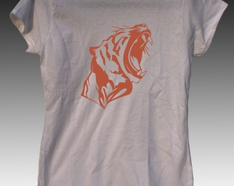 Tiger Graphic Ladies Tshirt in White