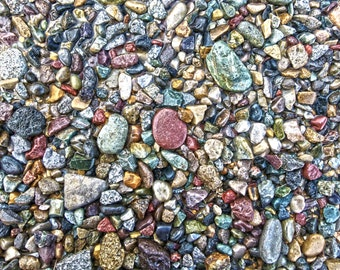 Photography print, HDR, Colorful rocks, 8X10 inch limited edition print