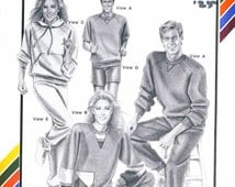 Stretch & Sew 194 Ladies and Mens Jogging Gear vintage sewing pattern Tops,Pullover,Pants,Shorts