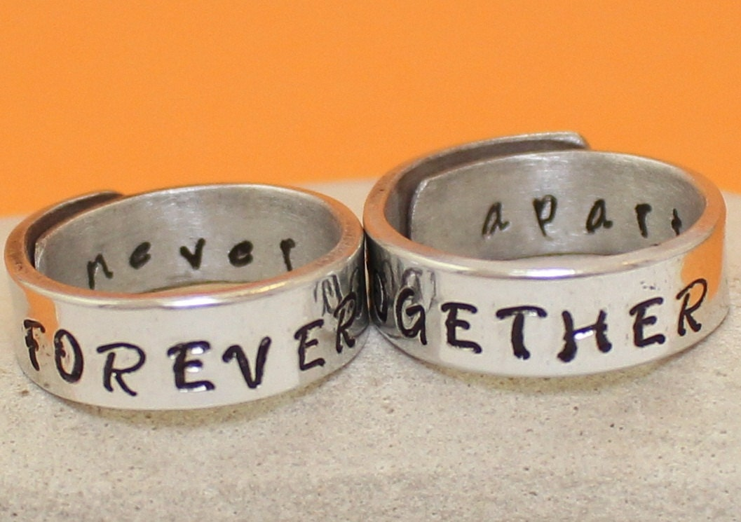 Forever Together Never Apart.. Personalized Rings.. Couple