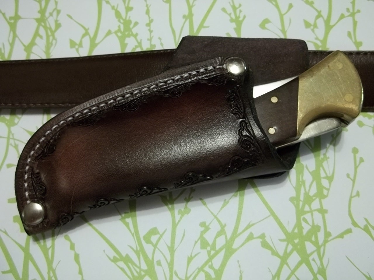 Leather knife Sheath Buck 110 JS110-049RT