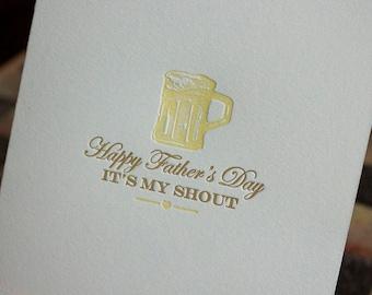 Letterpress Father's Day Card - Vintage