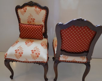 Sold-Pair of antique french chairs