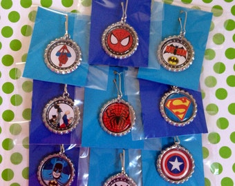 Super Hero Zipper Pull 36 Qty Super Hero Party Favor Backpack Clips Boys Party Favor