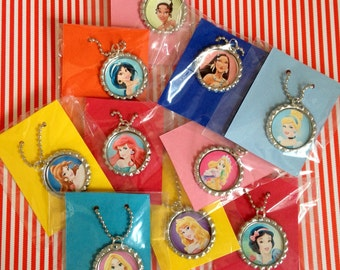Princess Party Favor 10 Qty Necklaces Princess Party Favor Necklace Princess Party Disney Princesses'