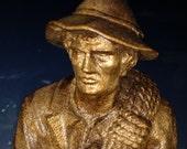 Anton Fischer Oberammergau Wood Carving Tyrolian Miner Figurine Statue