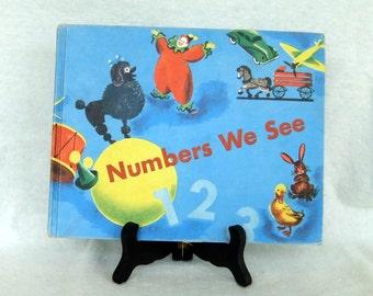 Vintage Children's Textbook, Numbers We See