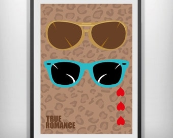 True Romance minimal minimalist movie poster