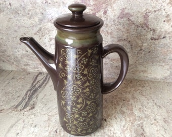 Vintage Interpace Japan 50s Ironstone Coffee Pot.  Perfect Condition
