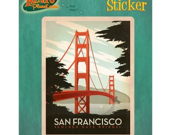 San Francisco Golden Gate Bridge Vinyl Sticker - #47899