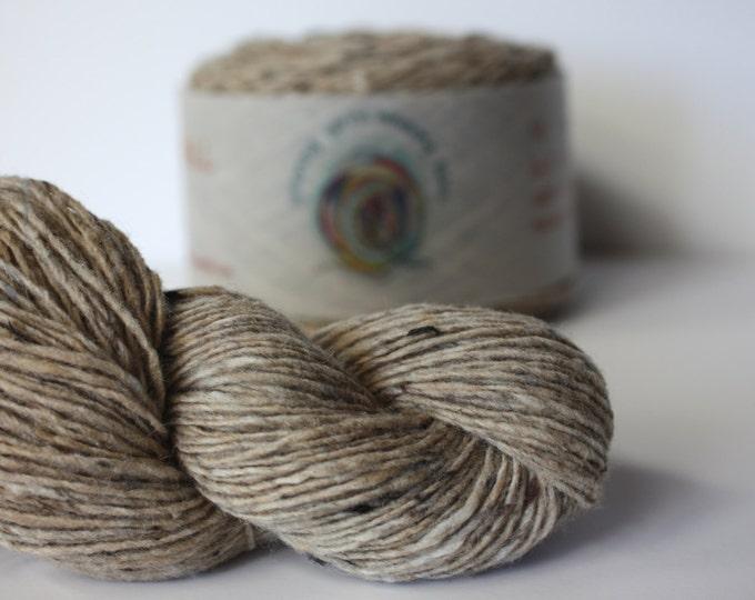 Spinning Yarns Weaving Tales - Tirchonaill 508 Oatmeal 100% Merino for Knitting, Crochet, Warp & Weft
