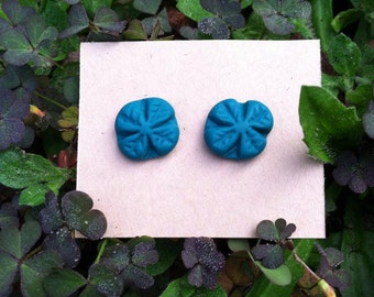 Handmade shamrock earrings..so you'll never be pinched again!