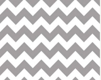 Riley Blake Gray Chevron (Medium)--One Yard- Riley Blake