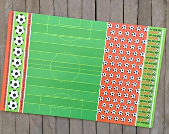 Soccer Themed Paper Placemats - Set of 8