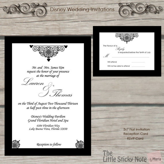 Items Similar To Disney Wedding Invitation On Etsy