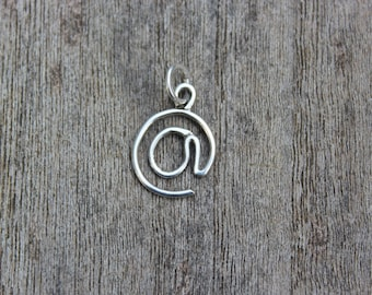 Sterling silver pendant '@' sign