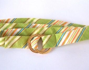 Ralph Lauren Linen Belt, Green Plaid Belt, Spring Belts, POLO