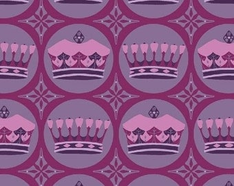 Windham Fabrics Kingdom 33210-1 Purple Crowns Yardage